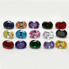 1PCS Per Colors Total 15pcs Size 3x5~10x12mm Oval Shape Loose Cubic Zirconia