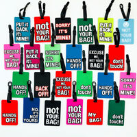 Cool Warning Message Fashion Luggage Tags Holiday Suitcase Label Travel Bag ID