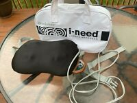 Brookstone iNeed Lumbar Massage Pillow Black w/ Travel Bag Model F-224