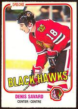 1981 82 OPC O PEE CHEE 63 DENIS SAVARD NM RC CHICAGO BLACK HAWKS HOCKEY CARD
