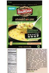 (4 Pack) Idahoan Steakhouse Cheddar Broccoli Potato Soup Mix, 6.6 Oz
