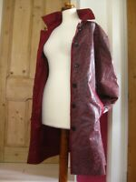 Ladies purple real leather REVERSIBLE JACKET COAT MAC UK 20 22 BETH TERRELL XL