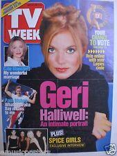 "GERI HALLIWELL AUSTRALIA 2000 ""TV GUIDE"" MAGAZINE POSTER - Spice Girls"