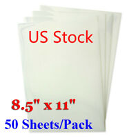 """USA Waterproof Inkjet Transparency Film for Screen Printing 8.5"""" x 11"""" 50 sheets"""