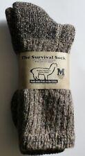 "Alpaca ""Survival Socks"" (Made in USA) Size Medium Lt. Brown"