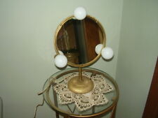 Vintage Ornate Brass/Bronze Swivel Dresser Mirror