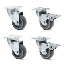 4x 50mm Transportrollen Lenkrollen mit Bremse Möbelrolle Schwerlastrollen