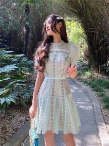 2021 Zimmermann Ladies Maxi Bohemia Embroidered Collared Cut Out Mini Slip Dress