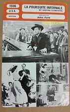 US Western My Darling Clemantine John Ford Henry Fonda French Film Trade Card