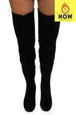 RRP €945 STUART WEITZMAN Suede Leather Over Knee Boots Size 38.5 UK 5.5 US 8