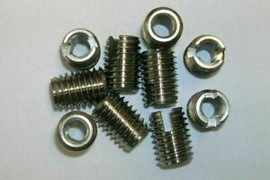 5 STAINLESS STEEL SLOTTED SELF TAPPING THREADED INSERTS TAPPERS  M8- internal