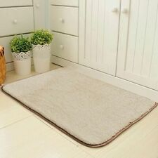 Washable Non Slip Door Mats Soft Shag Bath Rug Water Absorbent Bathroom Carpet