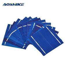 Célula de panel solar de 100Pcs 0.5V 0.46W Módulo de cristal de color Hazlo tú mismo Cargador De Batería 52x5