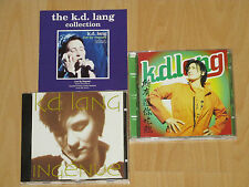 2x K.D. LANG - INGENUE / ALL YOU CAN EAT - GARY BURTON + BOOKLET-KATALOG