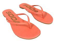Soda Women's Seashell Poolside Thong Flip-Flop Flat Sandals