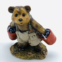 Wee Forest Folk Miniature Figurine Bears Good Pickin's BB 4 Red Bucket Blueberry