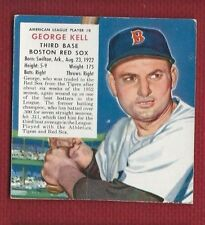 GEORGE KELL 1953 RED MAN TOBACCO #8A WITHOUT TAB RED SOX  GOOD-CREASED