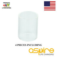 4x Aspire Cleito 120 Tank Replacement Pyrex Tube Glass Clear Sleeve 5Ml