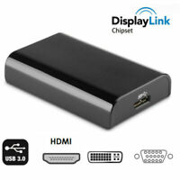 Displaylink USB 3.0 to HDMI DVI VGA Video Converter Adapter for windows 10 MacOs