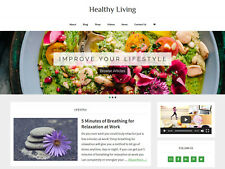 * HEALTHY LIVING * store blog affiliate website business for sale AUTO CONTENT!