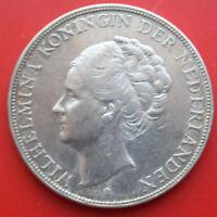 Netherlands-Niederlande: 2 1/2 Gulden 1930 Silber, KM# 165, VZ-XF, #F 2397