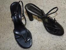 Barbara bui black leather strap heel open toe shoes size 35 1/2