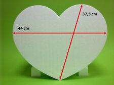 Styropor Herz 1 Stück 44 x 37,5 Höhe 10 cm weiß Hochzeit Warensendung Liebe Love