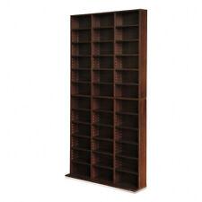 Adjustable CD DVD Book Storage Shelf Rack Stand Unit Brown