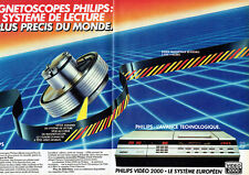Publicité Advertising 097  1983  Philips Video 2000 (2p)  bande magnétoscope rév