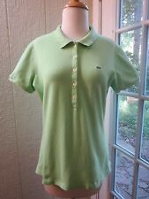"""Authentic Lacoste Green Short Sleeve Polo Shirt Women 44 """"Excellent"""""""