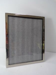 "Pottery Barn Modern Silver Picture Frame Silver Plate 8""x 10 #8542"