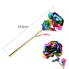 Colorful Rose 24K Gold Plated Romantic Valentine's Day Lover Friend Best Gift