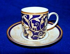 WEDGWOOD CORNUCOPIA Accent Can Shape Demitasse Cup and Saucer Set-chipped side