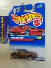 Hot Wheels 1997 Ferrari 308 Copper 5 Dot Wls/RED Card! #816  B16