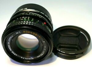 Minolta 50mm f2.0 Lens manual Focus or Sony And mount cameras α6500 α6100 α6400