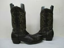 Justin Brown Leather Pointed Toe Cowboy Boots Mens Size 13 AAA Style 5511 USA