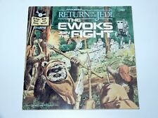 STAR WARS ROTJ EWOKS JOIN THE FIGHT STORY BOOK & RECORD SET 1983 BUENA VISTA