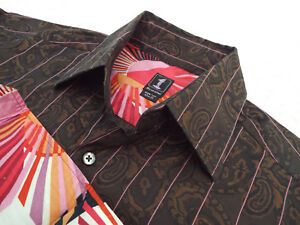 """1 LIKE NO OTHER Mens Shirt   Size 2 (44"""" CHEST)   RRP £135+📮 RARE FLORAL STYLE"""