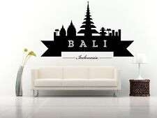 Wall Vinyl Sticker Decal Skyline Horizon Panorama City Bali Indonesia F1788