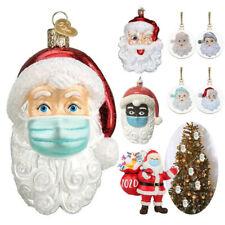 Santa mit Maske 10cm Christbaumschmuck Weihnachtskugeln Figuren Winterdeko