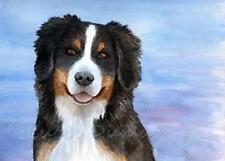 ACEO miniature art print from art painting Dog 125 Bernese Mountain by L.Dumas