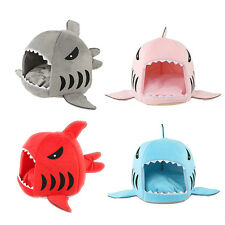 Dog Supplies Pet Bed Puppy Shark Shape Cushion Dog House Cat Kennel Warm Pet