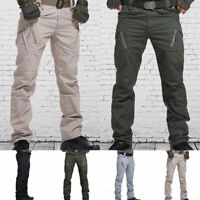 Mens Army Overalls Military Cargo Combat Trousers Tactical Outdoor Pencil Pants