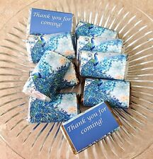 50 PEACOCK  MINI CANDY BAR WRAPPERS PARTY FAVORS