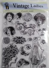 Hot Off the Press Acrylic Stamps - Hotp 1015 Vintage Ladies