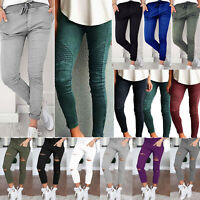 Women's Ripped Stretchy Jeans Leggings Ladies Skinny Skinny Jegging Plus Size