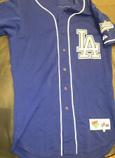 VINTAGE LOS ANGELES DODGERS SIZE 38 MAJESTIC/AUTHENTIC BASEBALL JERSEY SHARP NR