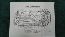 LIONEL 1823 LIONEL SUPER O DISPLAY LAYOUT INSTRUCTIONS PHOTOCOPY 6ft x 15ft