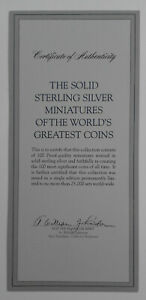 World's greatest coins in miniature - UNITED STATES One Dollar 1804 (B4)