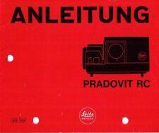 LEITZ - PRADOVIT RC - Diawechsler - Anleitung - B3473